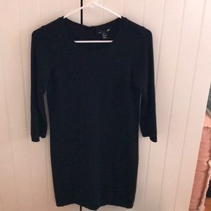 H&M sweater dress with buttons up back